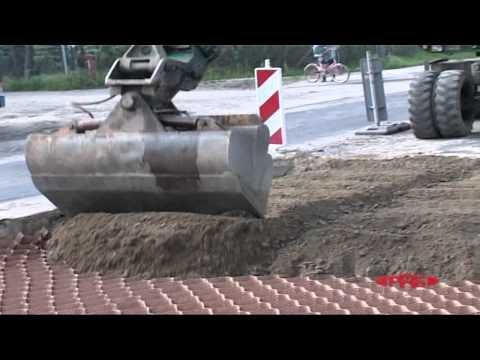 Naprawa dróg asfaltowych z Neoloy® Geocell, Polska