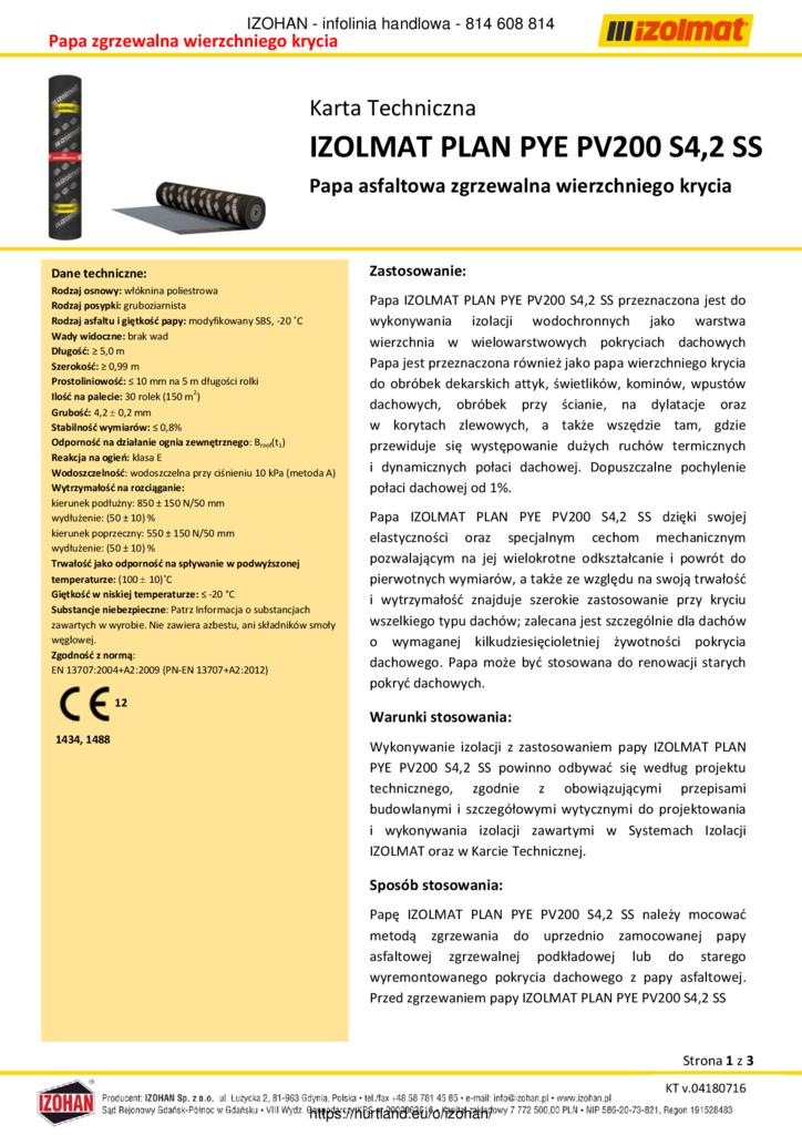 thumbnail of IZOLMAT_PLAN_PYE_PV200_S42_SS_karta_techniczna_hurtownia-hd